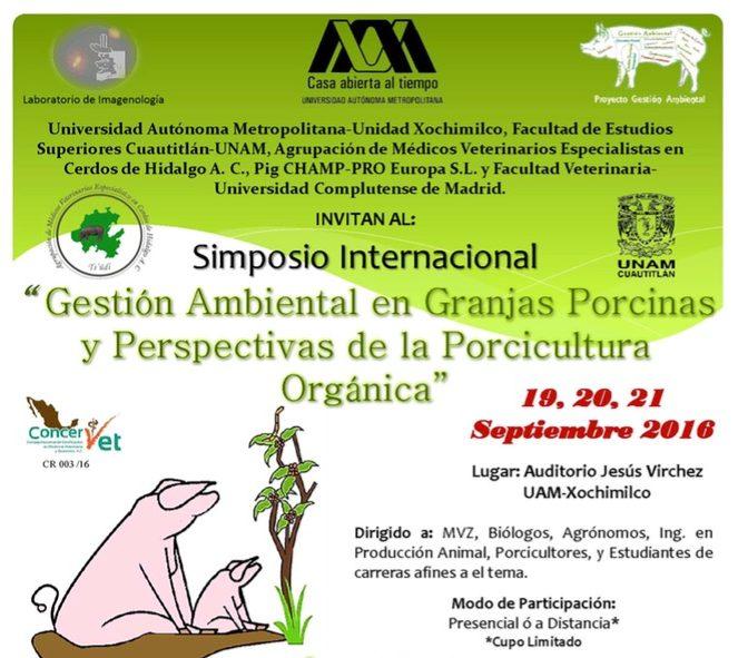 """Simposio Internacional sobre """"Gestión Ambiental en Granjas Porcinas y Perspectivas de la Porcicultura Orgánica"""