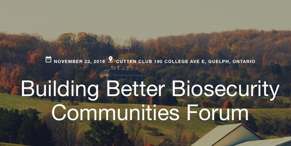 Building Better Biosecurity Communities Forum