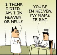Dilbert pointy haired boss at pearly gates