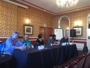 Fantasycon panel Religion in Genre Fiction: Terry Grimwood, Marion Pitman, Rosanne Rabinowitz, Naomi Foyle, Tasha Suri, Iain Grant