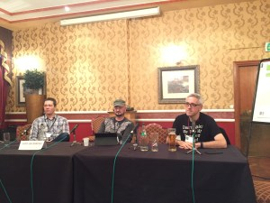 Fantasycon panel Film Funnies: Justin Lee Anderson, Richard Webb, Iain Grant