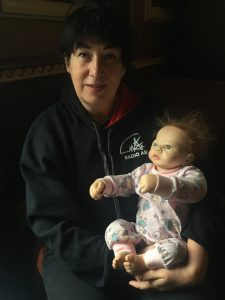 Joanne Harris with Baby