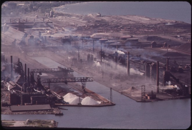 Buffalo Bethlehem Steel plant 1970's.  Photo:  George Burns, courtesy EPA