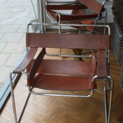 Wassily Chair Brown Leather Easy Design Marcel Breuer Pigeon Vintage Furniture
