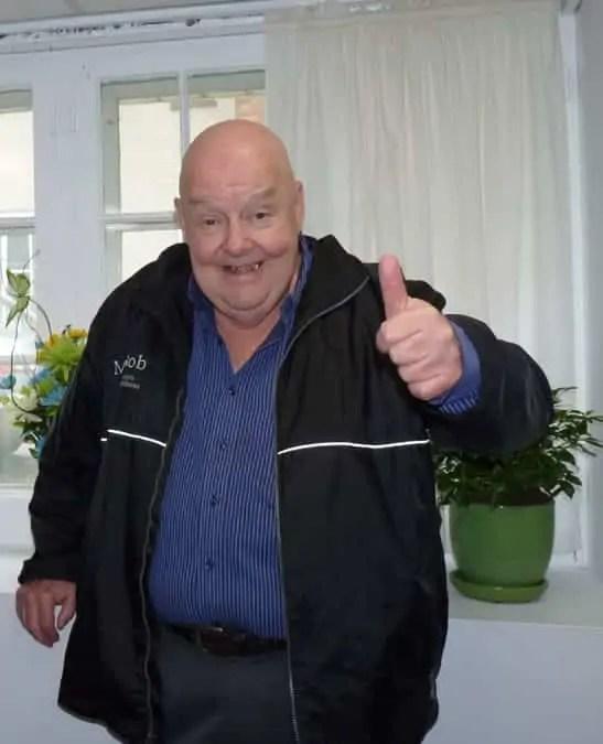 Mr. Bob's thumbs up