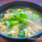 Egg Drop Soup with Spinach