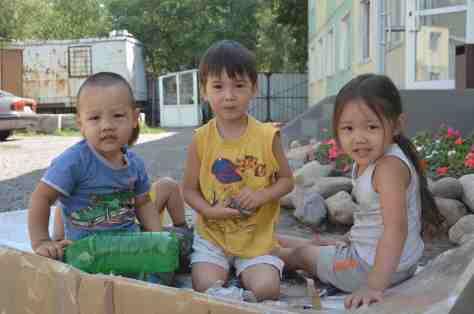 Enfants kazakhs