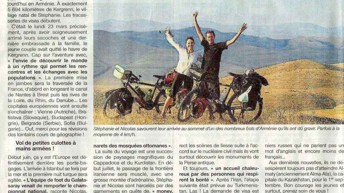 Merci Jean Jacques pour ce nouvel article ! (Ouest France 24.08.2015)