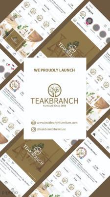 Launching Furniture 2021 Teak Branch Furniture With Instagram