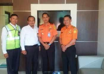 Perkuat Koordinasi, Kepala Basarnas Makassar Kunjungi Otoritas Bandara Sultan Hasanuddin