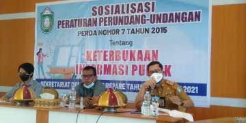 Anggota Komisi I DPRD Parepare Ibrahim Suanda Paparkan Asas Perda Keterbukaan Informasi Publik
