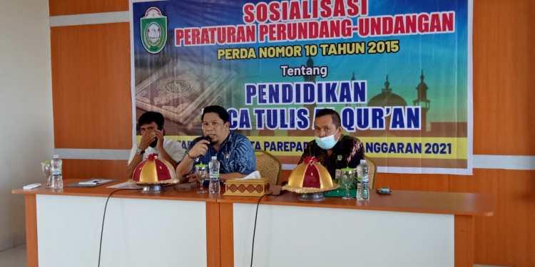Anggota Komisi II DPRD Parepare, H Bambang Nasir Paparkan Tujuan Perda Pendidikan Baca Tulis Al-quran