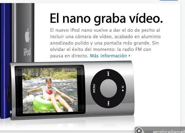 Publicidad iPod nano con radio