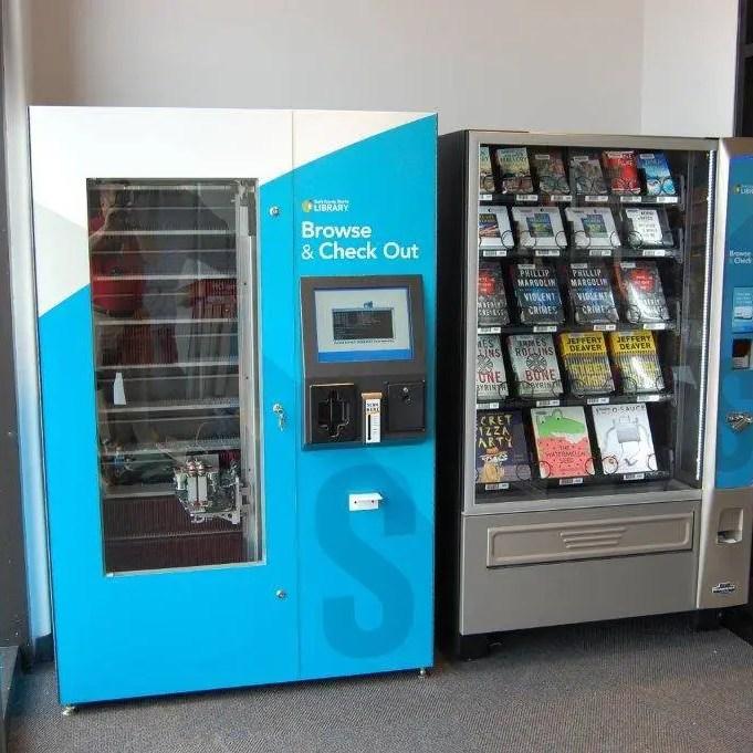 lending library media kiosk