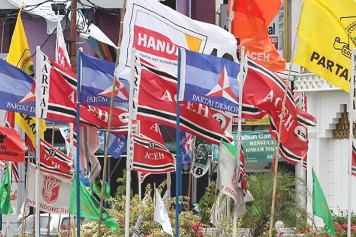 Bendera Partai Politik di Aceh (Foto Ist-google)