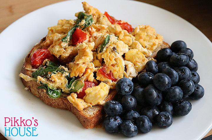 Cooking Light Diet Breakfast – Veggie Eggy Scramble