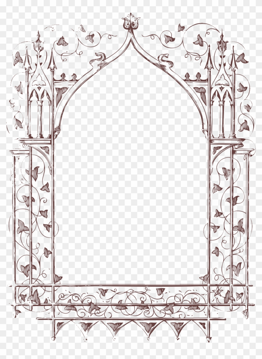 vector antique frame free clipart