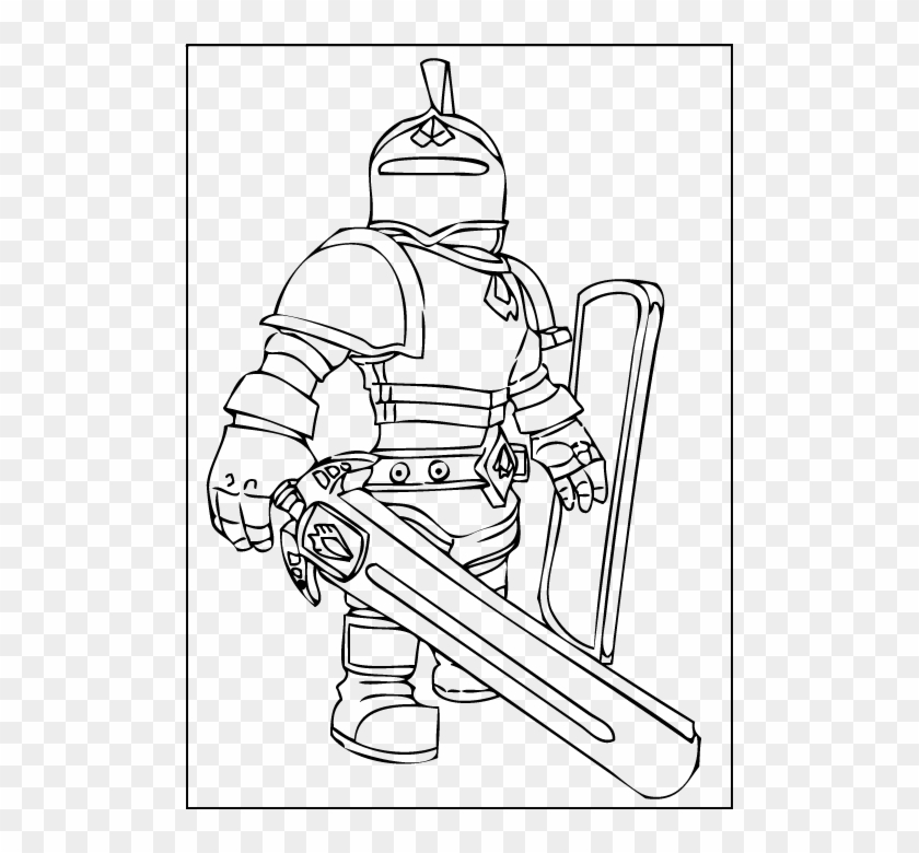 A Free Printable Roblox Knight Coloring Page Roblox Ninja Coloring Pages Clipart 265053 Pikpng