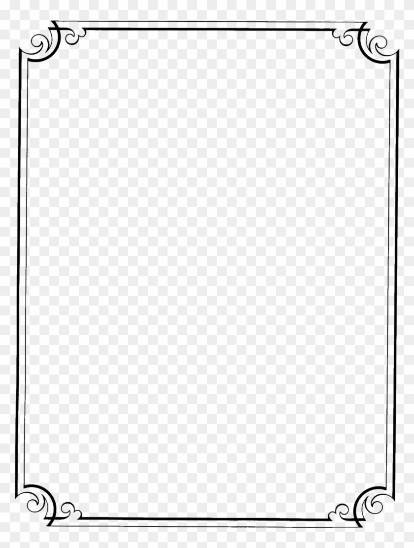 Page Border Design In Black And White Png Download Page Borders Transparent Background Clipart 319051 Pikpng
