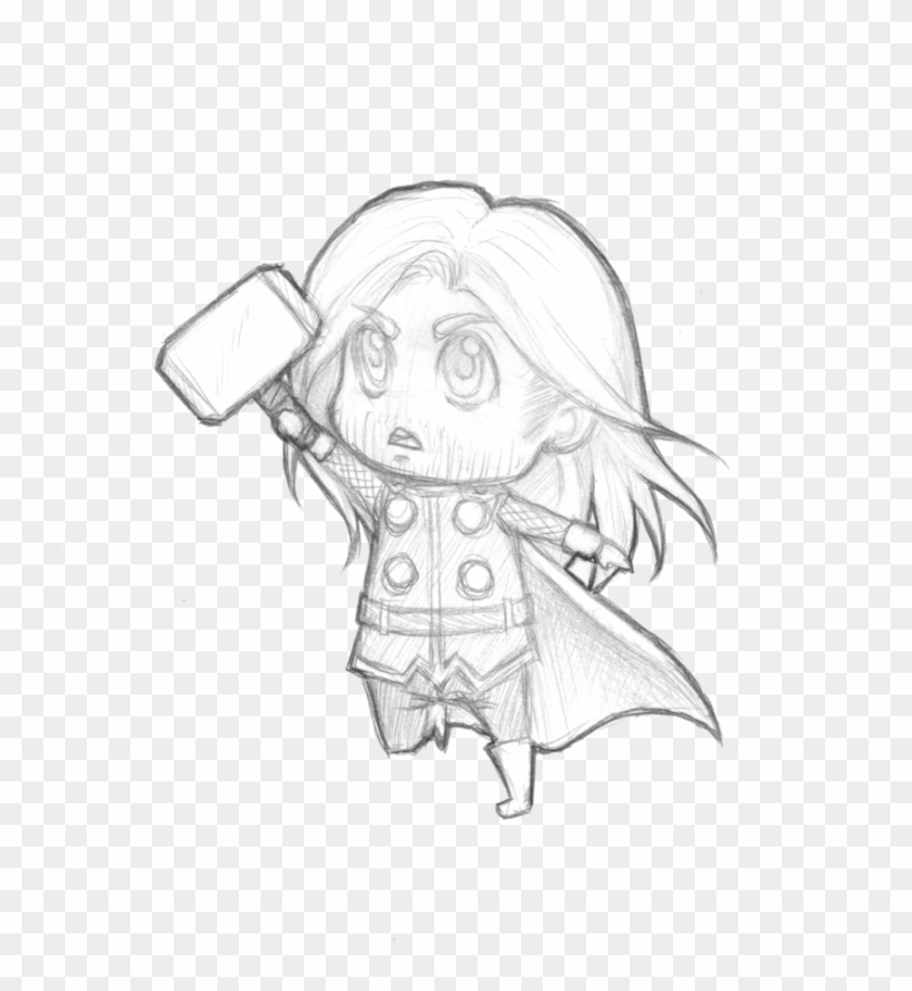 Thor Image Drawing Thor Coloring Pages Chibi Clipart 3166183 Pikpng