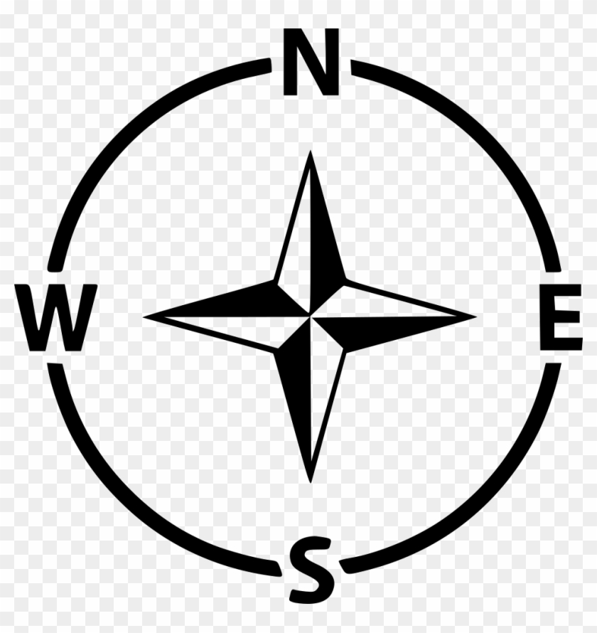 Compass Navigation Arrow Direction Gps West East North - North South East West Icon Clipart (#3339164) - PikPng