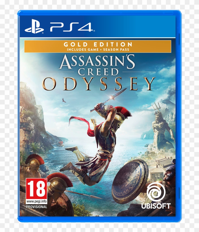 Assassins Creed Odyssey Gold Edition Playstation 4 - Assassin's Creed Jeux Ps4 Clipart (#4162808) - PikPng