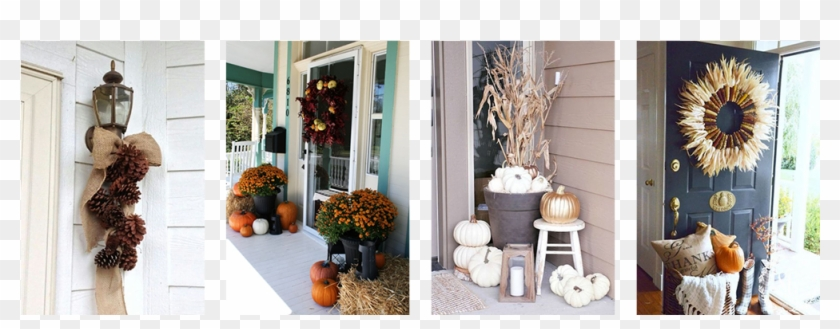 Diy Halloween Decorations For The Front Porch Fall Front Door Clipart 4593760 Pikpng