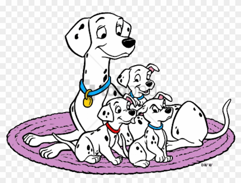 Disney Mother S Day 101 Dalmatians Coloring Pages 101 Dalmatians Perdita And Puppies Clipart 5068086 Pikpng