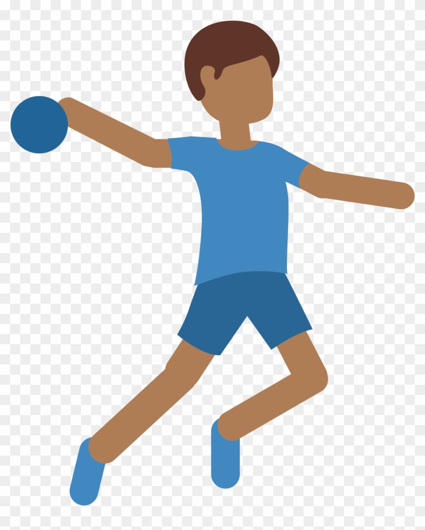 ball throwing handball cartoon