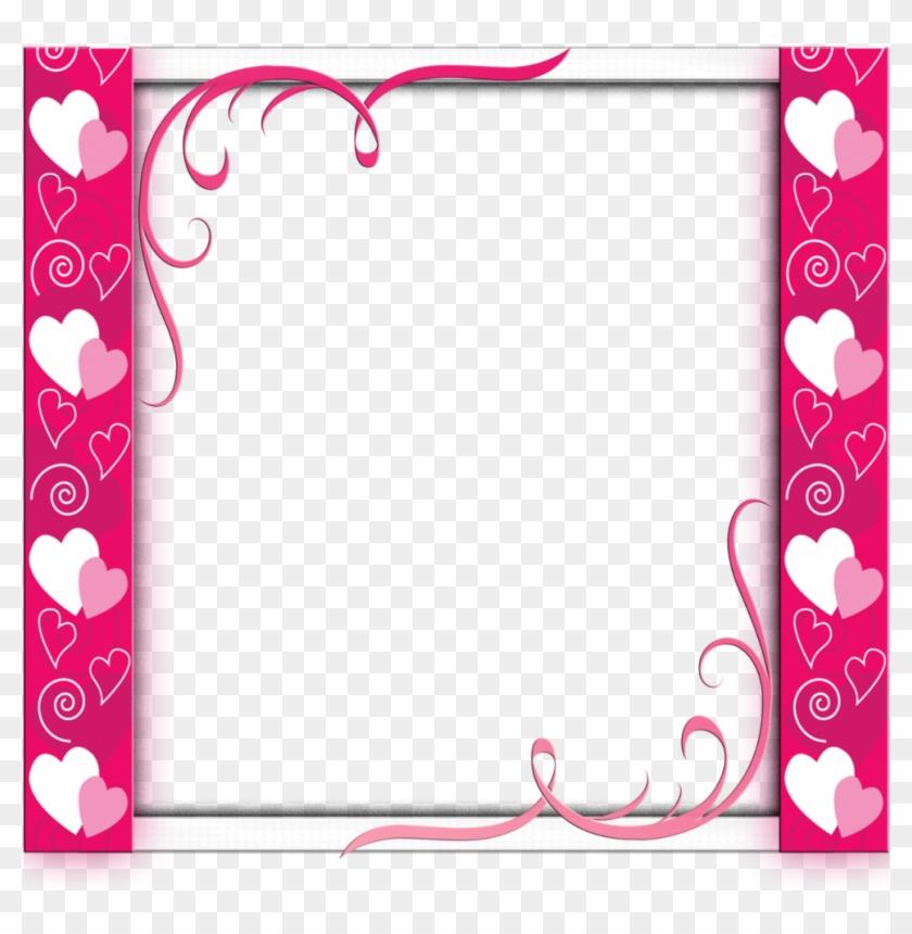 Mq Pink Hearts Frame Frames Border Borders Barbie Frames Clipart 5573025 Pikpng
