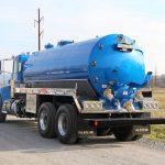 blue vacuum tank