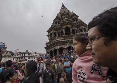little onlooker at Rato Machhendranath festival in Kathmandu Nepal . Pictures by pikturenama