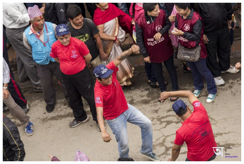 Celebration at Rato Machhendranath festival in Kathmandu Nepal . Pictures by pikturenama