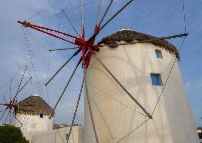 Kato Myloi - The windmills of Mykonos Greece by pikturenama