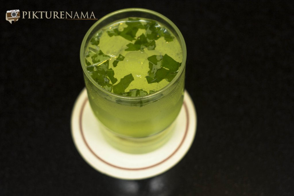 Soothing Cucumber and Curry leaf lemonae from top at Casa Kitchen Kolkata Summer Time Soiree by Pikturenama
