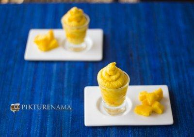 Mango Gelato Sandesh fusion mango sweet by pikturenama