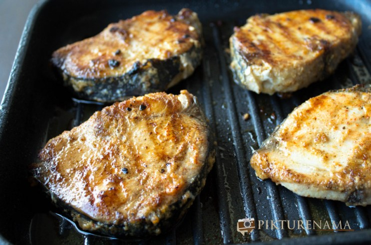 Grilled fish with red capsicum butter by pikturenama the grilled fishes