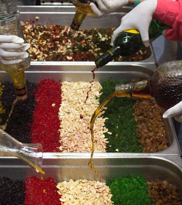 The Lalit Great Eastern Cake Mixing 2015