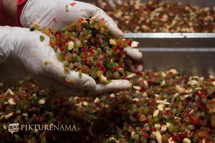 mixing and hunt on Christmas cake mixing at The Lalit Great Eastern Kolkata