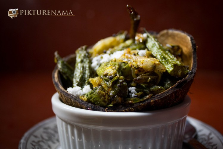 Aam Kasundi Bhindi or Okra in mango mustard sauce by Pikturenama 2