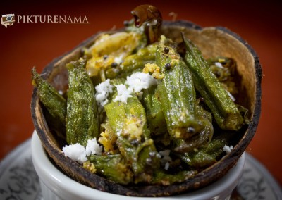 Aam Kasundi Bhindi or Okra in mango mustard sauce by Pikturenama 3