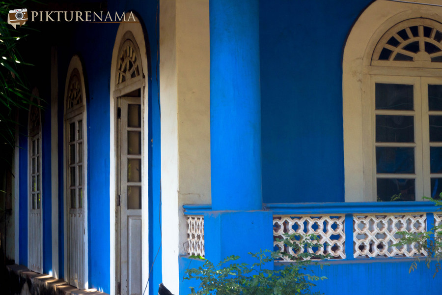 The Blue House in Goa and my mirror image