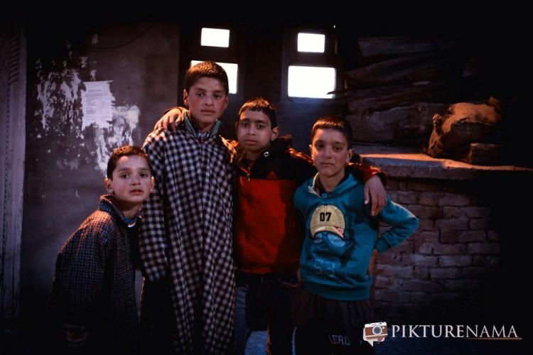 The young boys at Pahalgam town after the Namaz