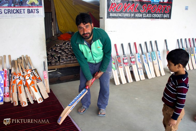 Tugga with Kashmir willow bat