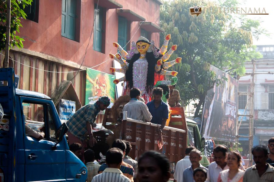 Durga Pujo she goes