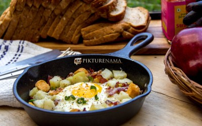 Skillet Baked Eggs and our love for truffles
