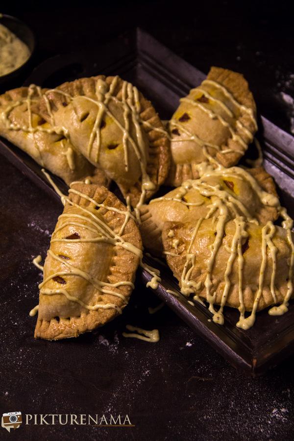 Pumpkin and prawn Hand pie 11