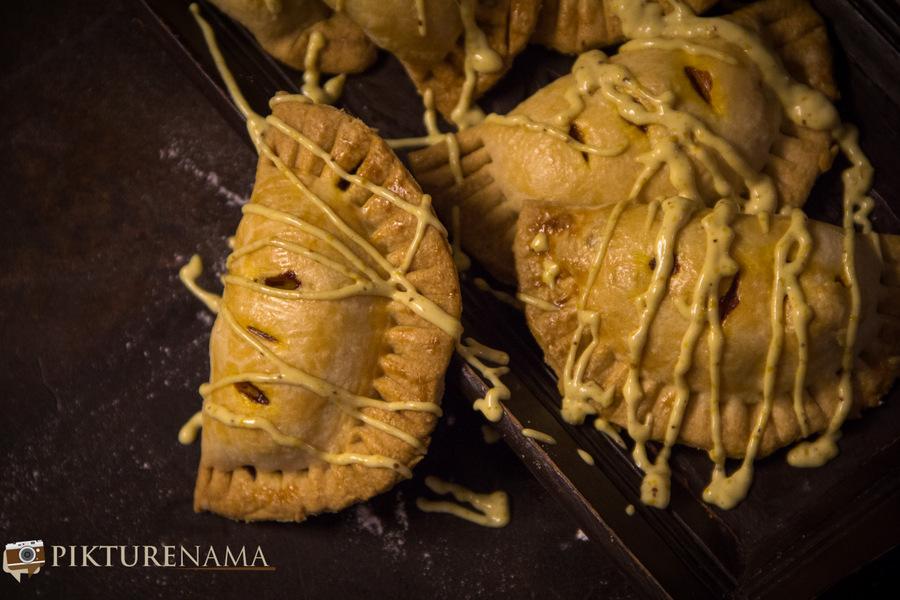 Pumpkin and prawn Hand pie 14