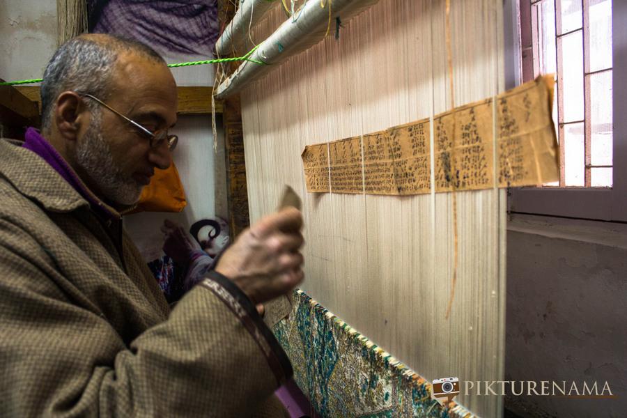 Faces of Kashmir carpet weaver 6