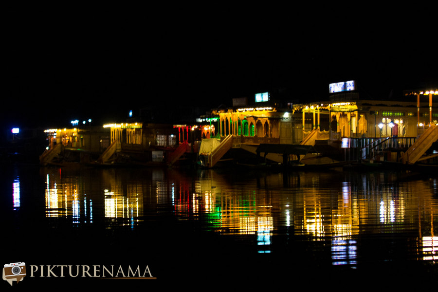 Kashmir Houseboat night - 2